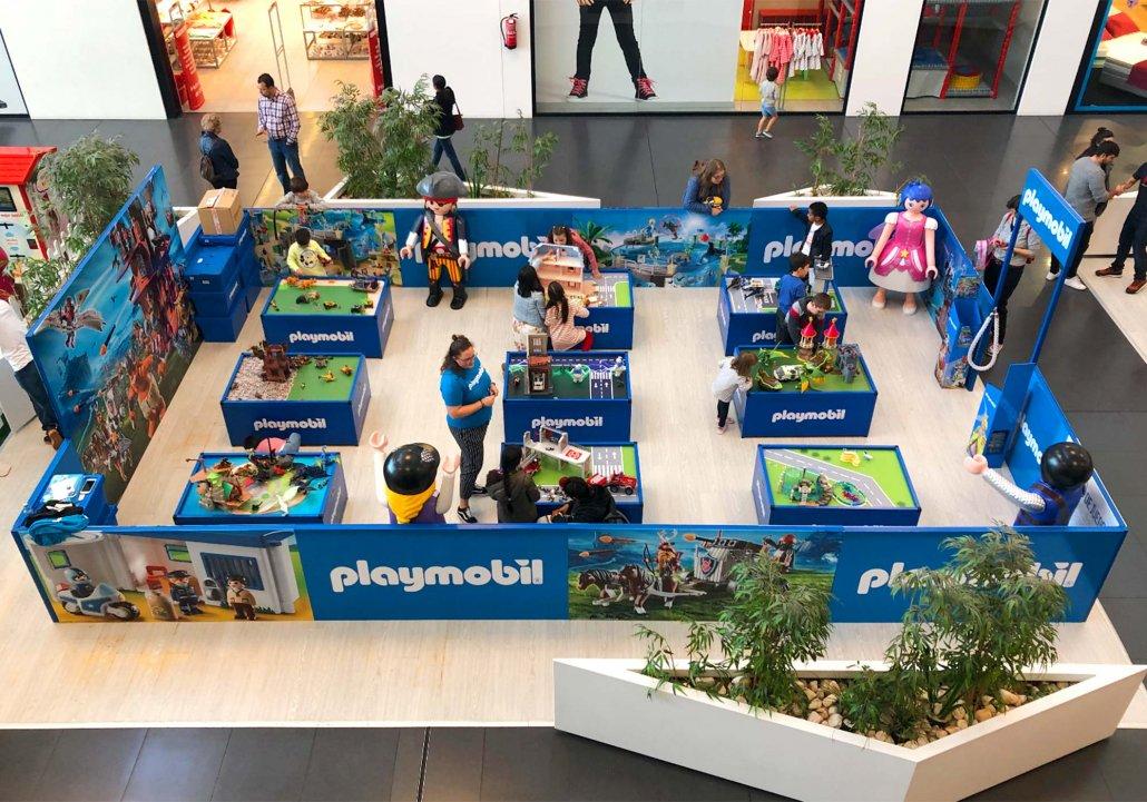 Zona de juegos Playmobil en Parque Ferrol
